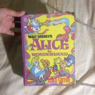 Disney alice in wonderland bag tas slingbag book original