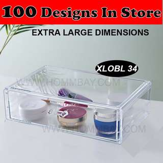 Clear Acrylic Transparent Make Up Makeup Cosmetic Jewellery Jewelry Organiser Organizer Drawer Storage Box Holder (XLOBL 34)