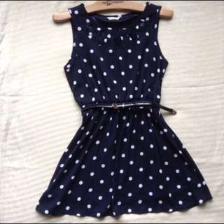 Polka Dress with belt