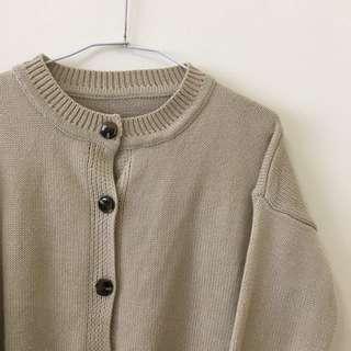 琥珀釦針織外套/毛衣