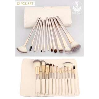 12 Pieces Make Up Brush Set Tool with Pouch