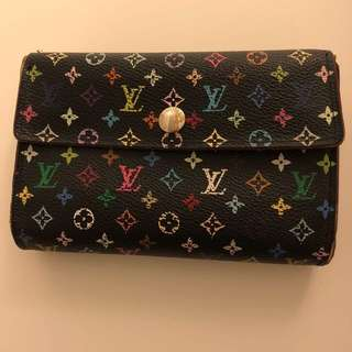 LV multicolored wallet
