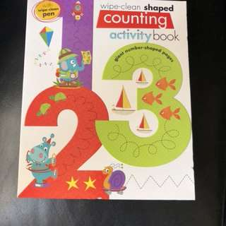 Wipe clean Shaped Counting Activity Book