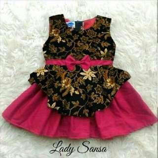 Gamis Anak Perempuan Dress Batik Lady