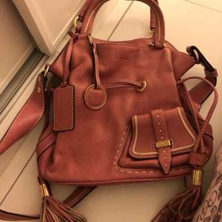 Lancel classic bag in pink color