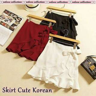 Skirt cute korean matt wedges import