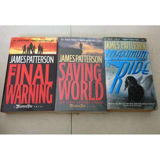 3 James Patterson books