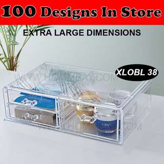 Clear Acrylic Transparent Make Up Makeup Cosmetic Jewellery Jewelry Organiser Organizer Drawer Storage Box Holder (XLOBL 38)