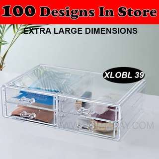 Clear Acrylic Transparent Make Up Makeup Cosmetic Jewellery Jewelry Organiser Organizer Drawer Storage Box Holder (XLOBL 39)