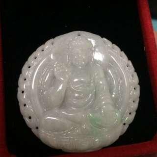 释迦牟尼佛 毗卢遮那 如來佛祖 天然翡翠A玉 (結緣價)