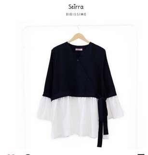 seirra black (blouse semi kimono) by bigissimo LD 125