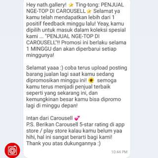 Thanks for the feedback customer 😘
