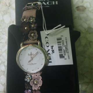 COACH DELANCEY FLORAL LEATHER STRAP 36MM