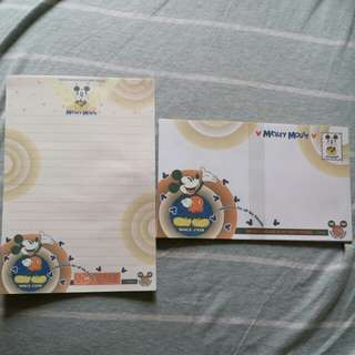 Mickey mouse信封信紙套裝送file