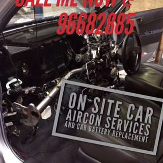 *ON SITE!* CAR BATTERY REPLACEMENT AND CAR AIRCON SERVICING