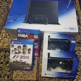 PS4 (Black/500GB) Model: CU-1206A-B01 (Complete Set)