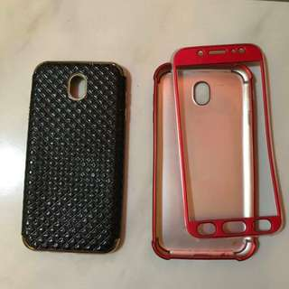 Samsung cover j7pro (black and red)