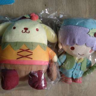 Pompompurin and Kiki from little twin star soft toys