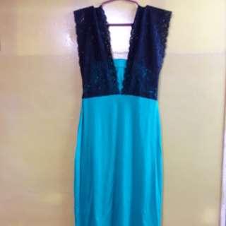 New Green Dress W/ Lace