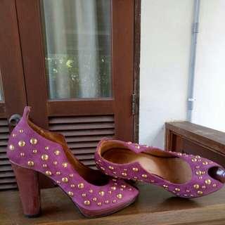 Genuine  Italian suede leather - Dusty Pink