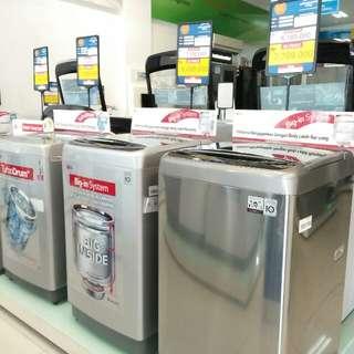 Kredit mesin cuci LG 1 tabung dg bunga rendah
