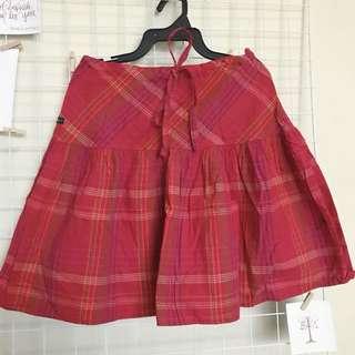 Plaid Skirt Red
