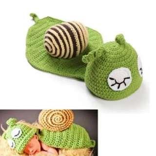 Baby Snail Crotchet Shooting Costume