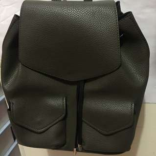 Zara Army Green Backpack