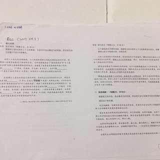 2017高华 Higher Chinese 试卷 Practice Papers