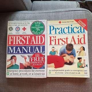 First Aid Manual & Practical First Aid - 2 books