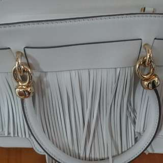 Tods white leather handbag