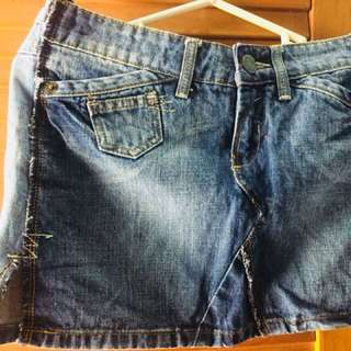 Rok mini jeans denim mango