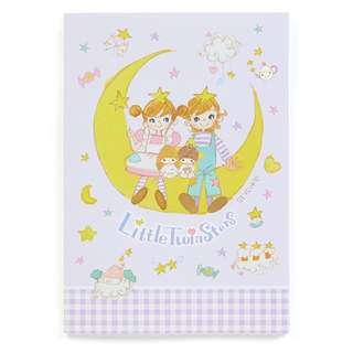 Japan Sanrio Setsuko Tamura × Little Twin Stars A5 Note