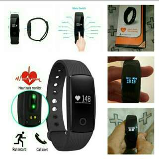 🆕🆒 🆕🈶Smart ID107 Smart Wristband Fitness Tracker Heart Rate Monitor Smartband PK Fitbits Sport IOS Android Bracelet