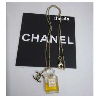 AUTHENTIC CHANEL CC LOGO N°5 BOTTLE NECKLACE - GREAT CONDITION !