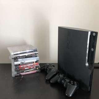 Sony Playstation 3 PS3 Slim 250 GB Gamer Bundle