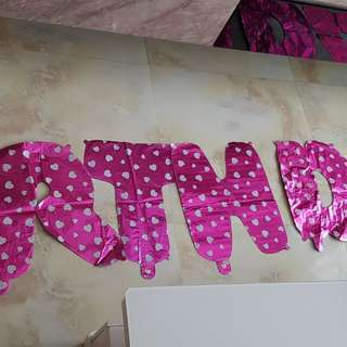 Baby birthday party ballons
