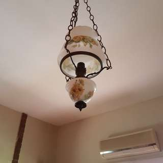 Antique lamps as ceiling lights