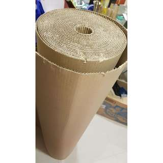 Cardboard roll for renovation