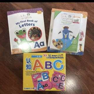 BABY EINSTEIN 1st Letters & Colours Book+ Dvd N Puzzle