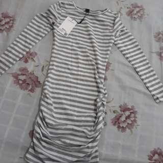 Stripe Dress Abu body fit Import