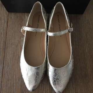 Tsumori Chisato walk mary jane 淺香檳金色鞋 Jp size 24.5