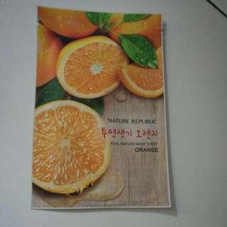 Real Nature Mask Sheet Orange
