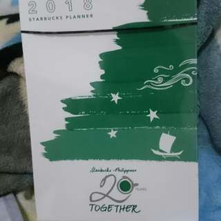 STARBUCKS PLANNER 2018 + 1FREE HANDCREAM ( CRABTREE & EVELYN) worth P525.00