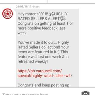 THANK YOU CAROUSELL n SELLERS!