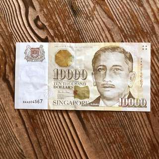 10,000 note