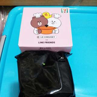 7-11 Le Creuset for Line Friends 糖果盒 CONY & BROWN 圓形鍋 綠色款