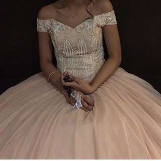 💖 Off shoulder super ball gown for prom 💖