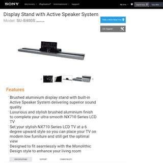 Sony TV Display Speaker Stand SUB400S Sound Bar