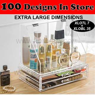 Clear Acrylic Transparent Make Up Makeup Cosmetic Jewellery Jewelry Organiser Organizer Drawer Storage Box Holder (XLOTL 7 + XLOBL 35)
